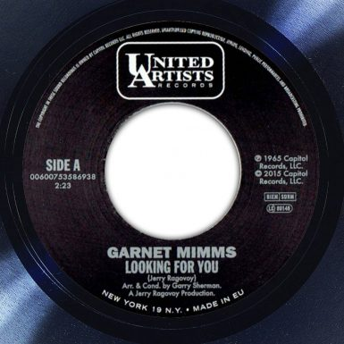 Garnet Mimms Looking For You Album Label The Face Song Of The Day
