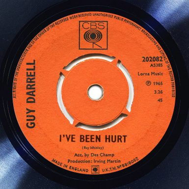 Guy Darrell I've Been Hurt Album Label The Face Song Of The Day