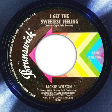 Jackie Wilson I Get The Sweetest Feeling Album Label The Face Song Of The Day