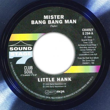Little Hank Mr Bang Bang Man The Face Song Of The Day