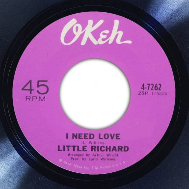 Little Richard I Need Love Album Label The Face Song Of The Day