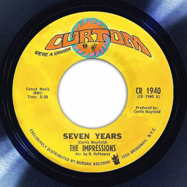 The Impressions Seven Years album label the Face Radio Song of the Day