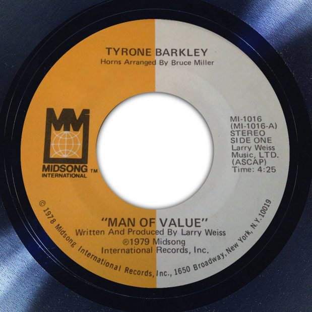 Tyrone Barkley Man of Value Album Label The Face Song Of The Day