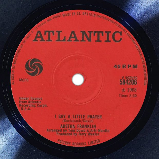 Aretha Franklin I Say A Little Prayer For You Label The Face Song Of The Day