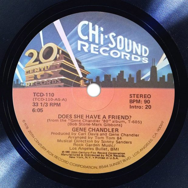 Gene Chandler Does She Have A Friend? Label The Face Song Of The Day