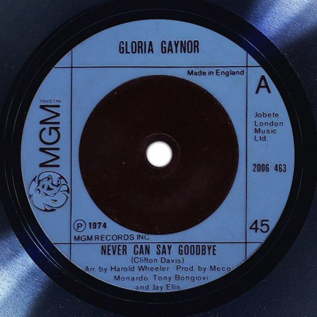 Gloria Gaynor Never Can Say Goodbye Label The Face Song Of The Day