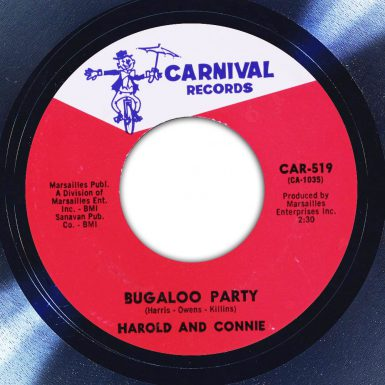 Harold and Connie Bugaloo Party Label The Face Song Of The Day
