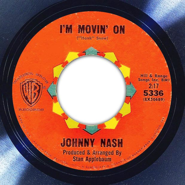 Johnny Nash I'm Moving' On Label The Face Song Of The Day