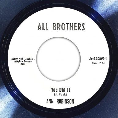 Ann Robinson You Did It Label The Face Song Of The Day