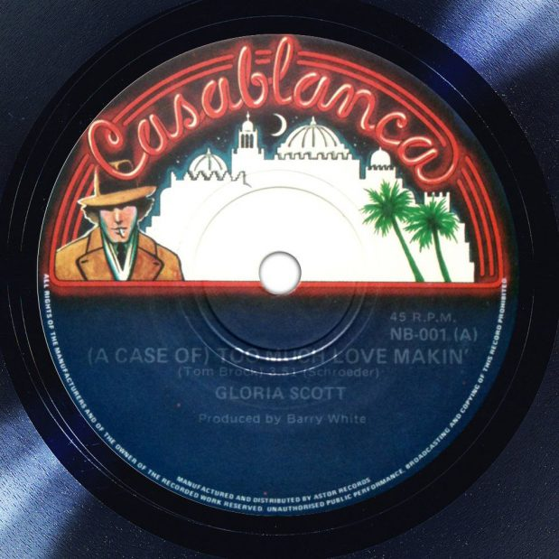 Gloria Scott (A Case Of) Too Much Love Makin' Label The Face Song Of The Day