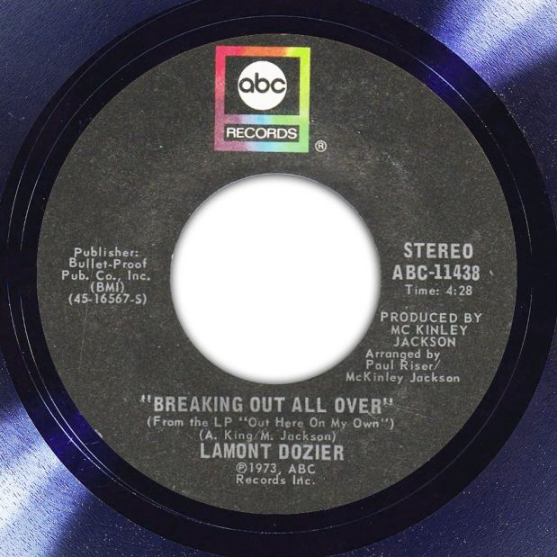 Lamont Dozier Breaking Out All Over Label The Face Song Of The Day