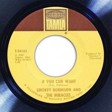 Smokey Robinson And The Miracles ‎– If You Can Want Label The Face Song Of The Day