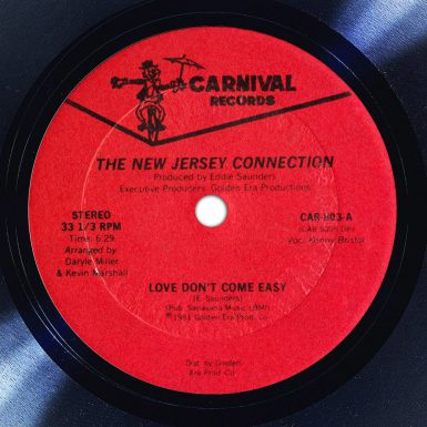 The New Jersey Connection Love Don't Come Easy Label The Face Song Of The Day