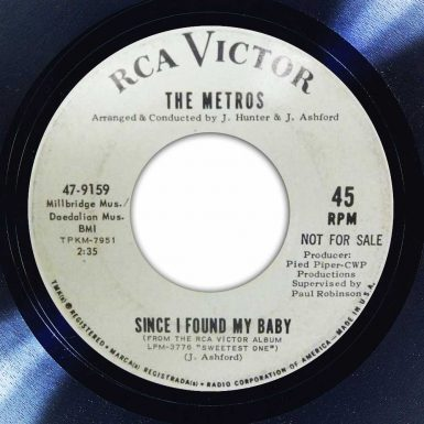 The Metros - Since I Found My Baby