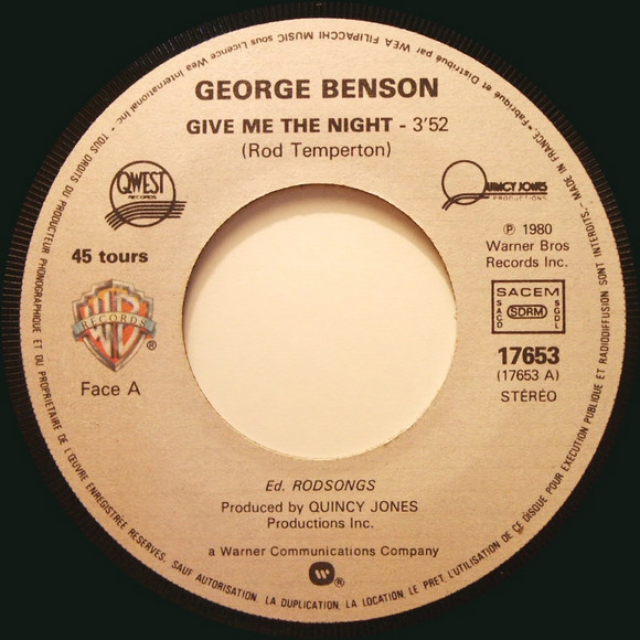 George Benson ‎- Give Me The Night