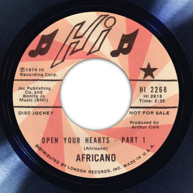 Africano - Open Your Hearts