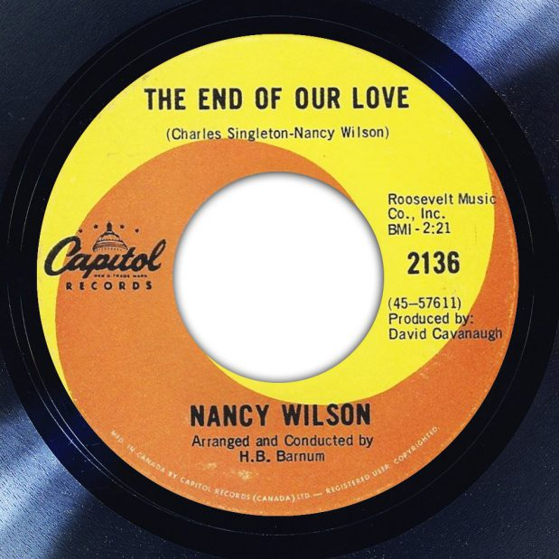 Nancy Wilson - The End Of Our Love
