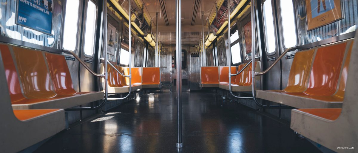 Empty Subway Train. Photo by @whodunelson