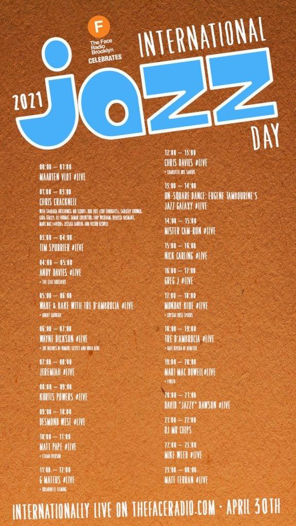 International Jazz Day 2021 LINE-UP Poster